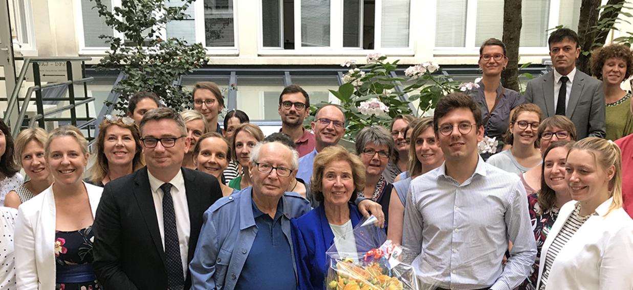 Beate und Serge Klarsfeld im DFJW in Paris
