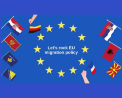 Lets Rock EU Migration Policy Blau