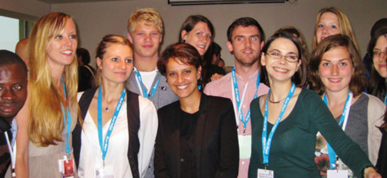 Les jeunes avec Najat Vallaud-Belkacem