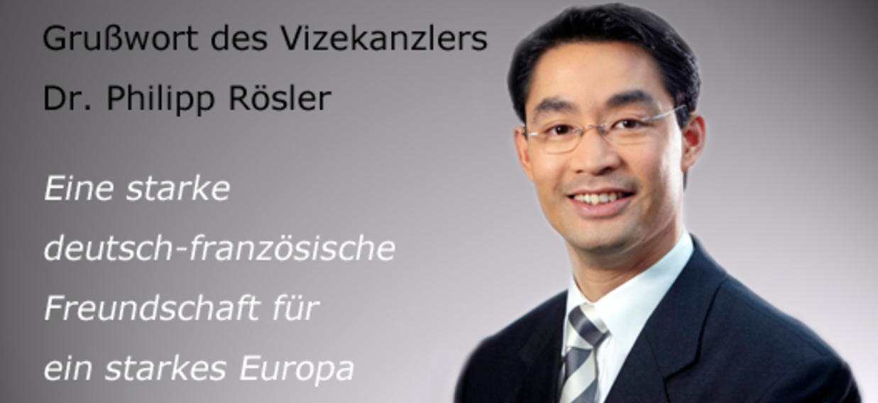 UNE Grußworte von Dr. Philipp Rösler D