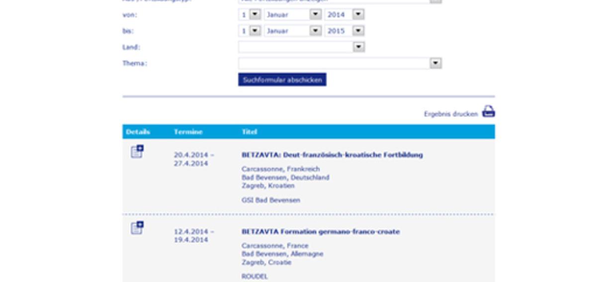 Calendrier des formations interculturelles en ligne 2014