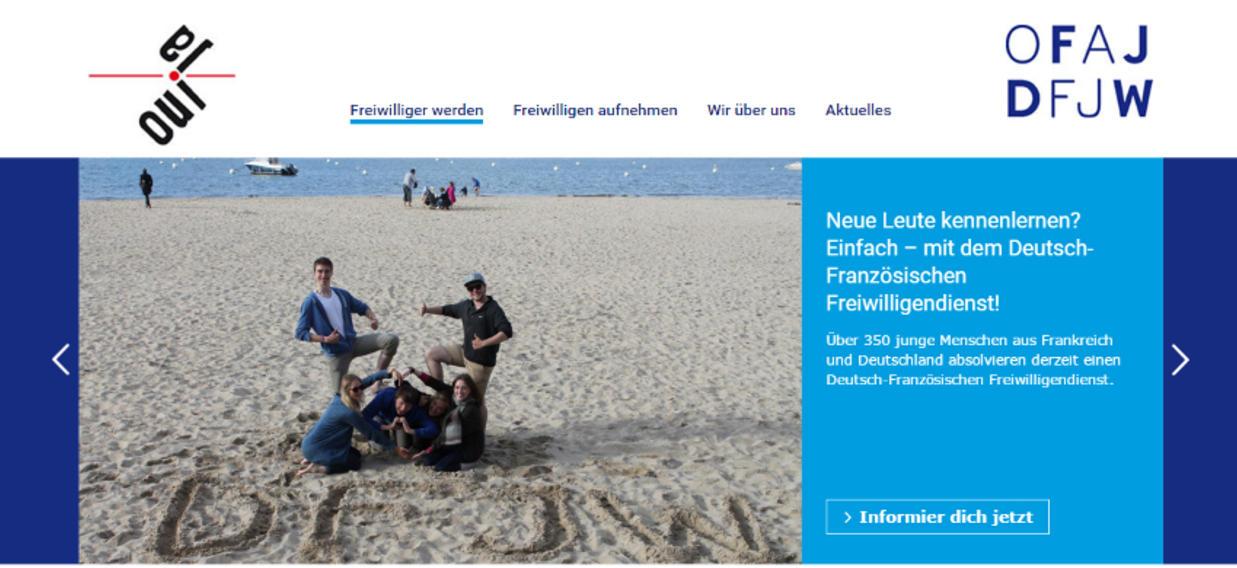 Neue Internetseite des DFFD